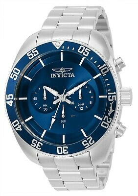 Invicta 30055 Pro Diver Men's 48mm Chronograph Stainless Steel Blue Dial Watch