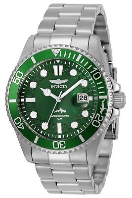 Invicta 30020 Pro Diver Men's 43mm Stainless Steel Green Dial Watch