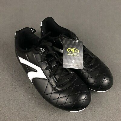 Athletic Works Soccer Cleats Youth Size 5 New With Tags Futbol Shoes Black//White