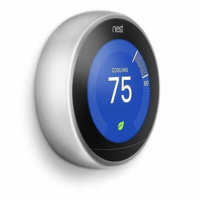 Nest 3rd Generation Learning Stainless Steel Programmable Thermostat Brand New