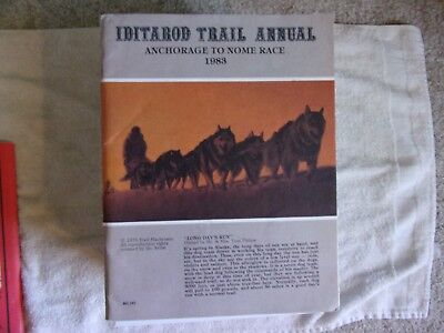 "1983 IDITAROD TRAIL ANNUAL, 'The Last Great Race"", Anchorage to Nome"