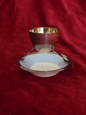 christopher dresser silver plated egg cup by hukin & heath