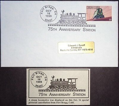 US Cover 1999 Fort Bragg, California (N2) 75th Anniversary