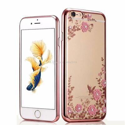 Rose Gold Bling Case for iPhone 7/8 Diamond Silicone Slim Gel Girl/Ladies Cover