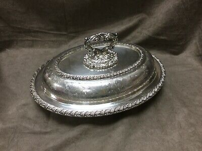 BURK Regency Plate Oval Covered Serving Dish Made in England