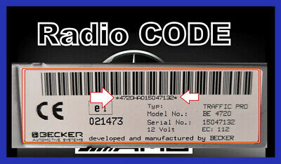 Radio Code - Mercedes-Benz SENTION
