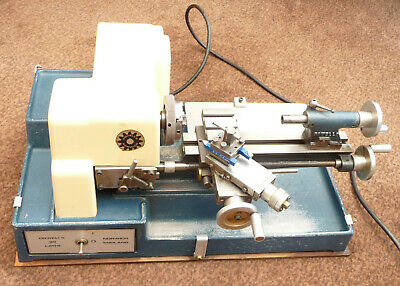 Cowells 90 lathe for model maker, clock repairer ect, with manual & accessories.