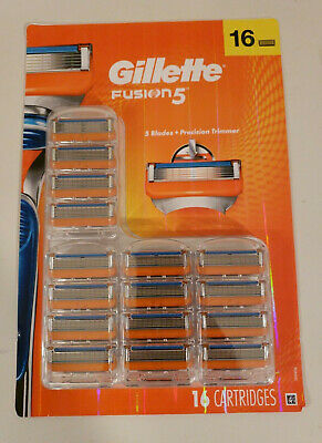 Gillette Fusion5 Disposable Men's Razor Blades Cartridge Refills 16 Count New!!!