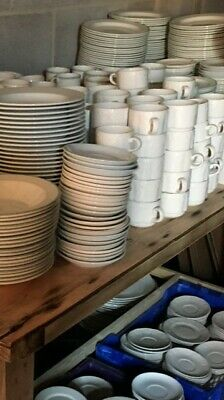 Joblot of Dudson and Royal Doulton Crockery, Cutlery and Glasses