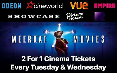 Meerkat Movies 2 for 1 Cinema Ticket Code - Valid 20th & 21st August