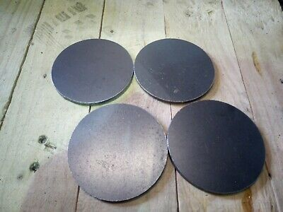 10x Non Prime 100mm Round 3mm Plasma Cut Feet Disc Steel Offcuts.Welding Project