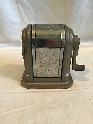 Boston 55 Ranger Pencil Sharpener Vintage Manual 6 Holes Desktop Grey Metal
