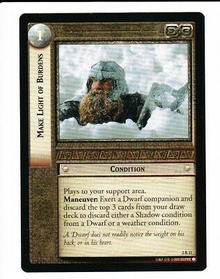 Lord of the Rings LOTR CCG TCG Fellowship of The Ring Fotr Rare cards 3//5
