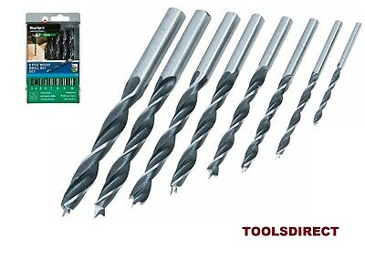 BlueSpot 8pc Brad Point Wood Drill Bit  Set 3, 4, 5, 6, 7, 8, 9 & 10mm Bits
