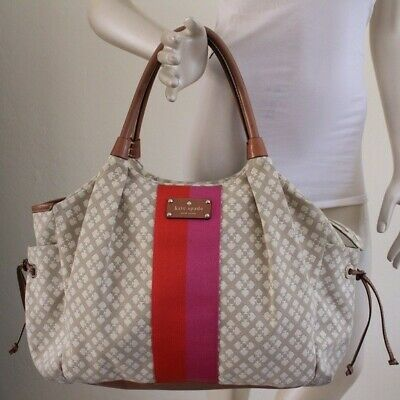 Kate Spade Tan Diaper Bag Tote Large (includes changing pad) - GREAT CONDITION!