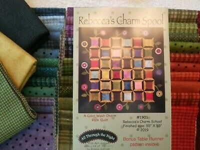 Rebecca's Charm Spool Quilt Kit with Maywood Woolies Flannels