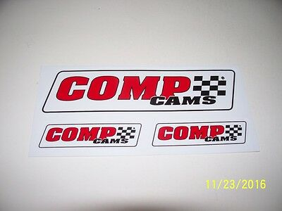 "ORIGINAL  RACING  DECALS  ""  COMP  CAMS  3 Decal Sheet  ""  5.50 "" x 2.50 """