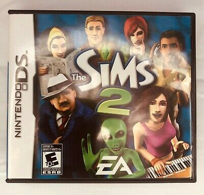 Nintendo DS The Sims 2 Empty Case & Manual ONLY (NO GAME)