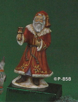 SANTA WITH BELL Provincial Ceramic Mold OLD WORLD Christmas Figurine