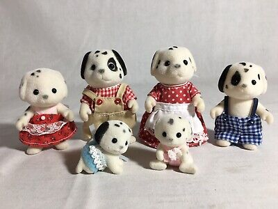 Calico critters/sylvanian families Dalmation family of 6 Dogs