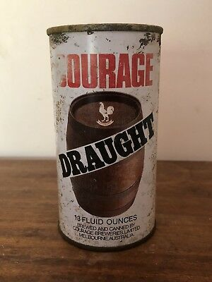 Collectable Courage Breweries Draught Steel BEER CAN Pull Ring 13oz