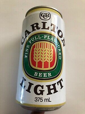 Collectable Carlton Light Full Flavoured BEER CAN 375ml