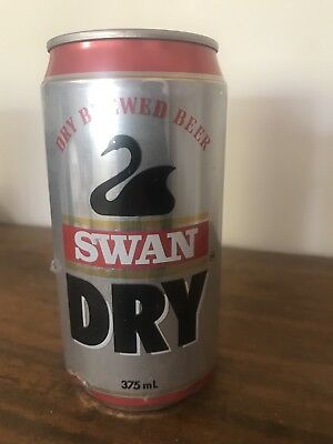 COLLECTABLE AUSTRALIAN BEER CAN, Swan Brewery Perth Swan Dry Can 375ml No 2