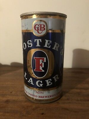 Collectable FOSTERS LAGER 740ml Steel BEER CAN Ring Pull