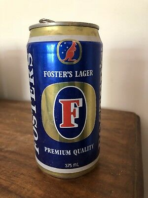 COLLECTABLE Fosters Lager Premium Quality  Beer Can 375ml Carlton & United