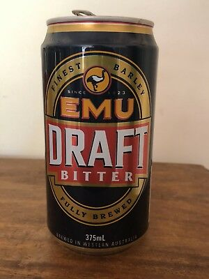 Collectable Emu Original Draft  BEER CAN 375ml Perth Fully Brewed