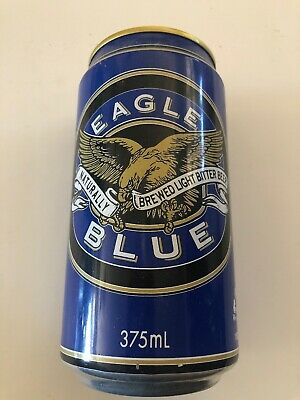Collectable Eagle Blue Bitter Beer Can 375ml