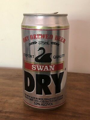 Collectable Swan Dry Brewed Export Quality BEER CAN 375ml
