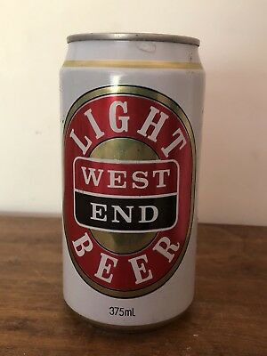 COLLECTABLE West End Light BEER CAN 375ml