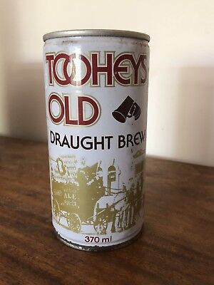 Collectable Tooheys Old Draught Brew Steel Beer Can 370ml Ring Pull