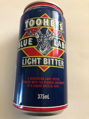 Collectable Tooheys Blue Label Light Bitter Beer  375ml  BEER CAN  NSW