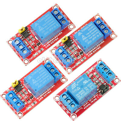 DC 5V/9V/12V/24V 1CH Optocoupler Relay Module Support High and Low trigger