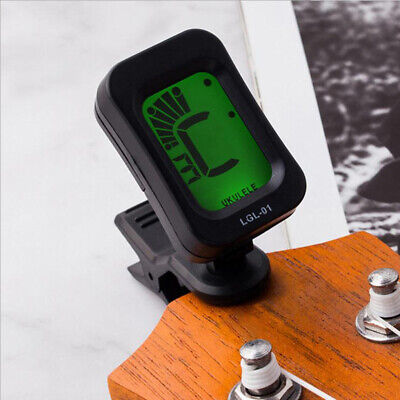 Digital Chromatic LCD Clip-On Electric Tuner for Bass Guitar Ukulele Violin