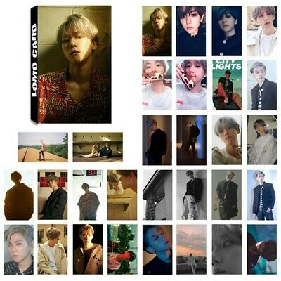 30PCS KPOP EXO Photocards BAEKHYUN SOLO Album [City Lights] Poster Lomo Cards