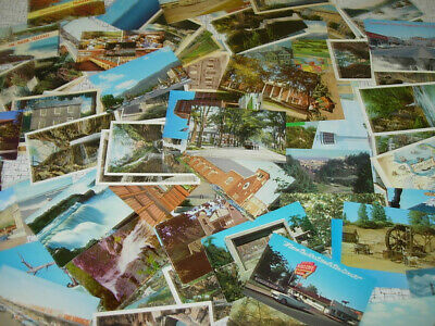 Lot of 3000 USA TOWN VIEW postcards - TONS OF GREAT VIEWS - at