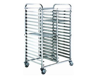 Gastronorm Trolley 2x15 Tier Stainless Steel Bakery Trolley Suits GN 1/1 Pans