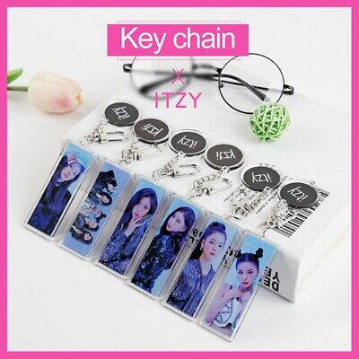 Kpop ITZY [ IT'z ICY ] New Album Keychain Yeji Lia Yuna Figure Pendant Key Ring