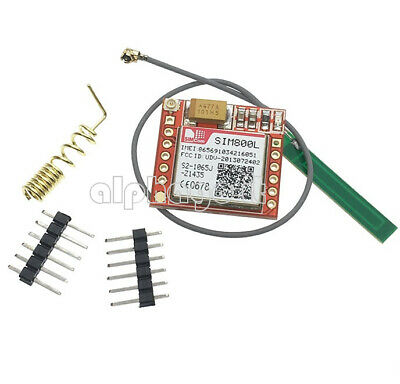 1X GPRS GSM SIM800L  Module With Antenna TTL Card Board Quad-band Onboard