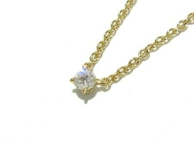 3beb64514f2a1 AUTH CARTIER LOVE Circle Diamond Necklace 750(18K) Yellow Gold ...