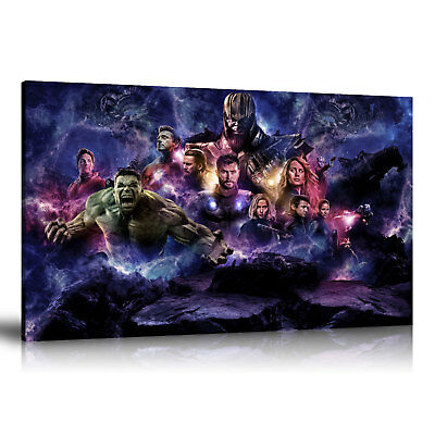 "HD Print Oil Painting Art on Canvas Avengers 4 Endgame Infinity Gauntlet 24""x36"""