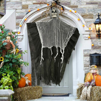 Halloween Skull Skeleton Hanging Ghost Terror Scary Props DIY Party Door Decor