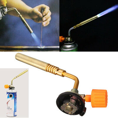 Butane Gas Blow Torch Burner Flamethrower Camping Welding BBQ Ignition UK