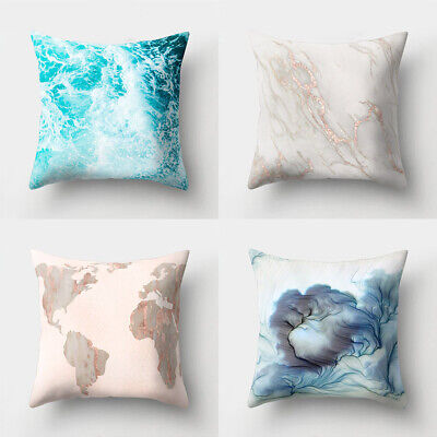 Marble Pattern Soft Beauty Cushion Cover Bed Sofa Pillowcase Home Decor Latest