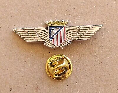 Pin Futbol - Escudo Del Atletico Aviacion - Plateado - Atletico De Madrid