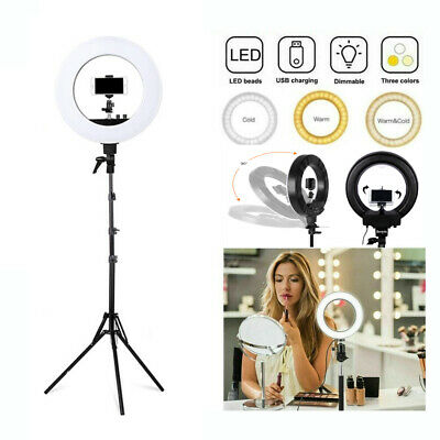 Studio LED 50W 18 INCH Photo Video Ring Light + Camera iPhone Holder Stand