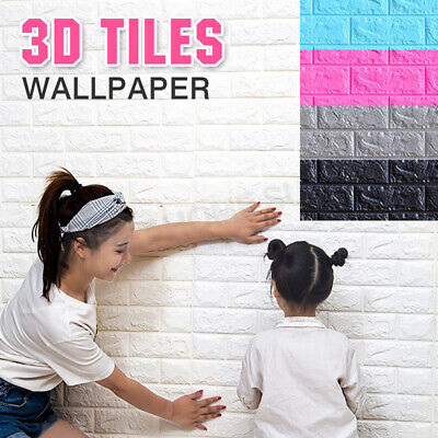 3D Wall Paper Panel Brick Stickers Mural Marble Adhesive Home Decal 70cm*77cm